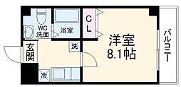 仮称)梅津神田町共同住宅 4階1Kの間取り