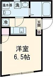 小田急小田原線 千歳船橋駅 徒歩12分の賃貸マンション 3階ワンルームの間取り