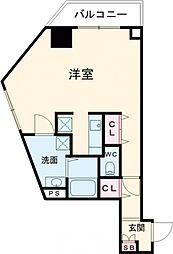 小田急小田原線 千歳船橋駅 徒歩21分の賃貸マンション 4階ワンルームの間取り