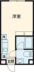Reco桜新町 2階ワンルームの間取り
