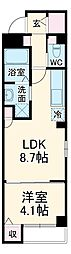 西鉄天神大牟田線 雑餉隈駅 徒歩7分の賃貸マンション 1階1LDKの間取り