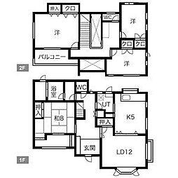 JR筑肥線 姪浜駅 徒歩23分の賃貸一戸建て 1階4LDKの間取り