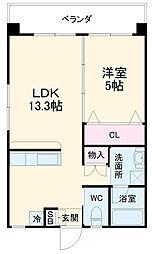沖縄都市モノレール 奥武山公園駅 バス2分 豊西前バス停下車 5.3kmの賃貸マンション 1階1LDKの間取り