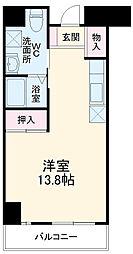 サンロワール和泉砂川 5階1Kの間取り