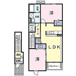 グランツK[2階]の間取り
