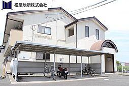 愛知県豊橋市西口町字元茶屋の賃貸アパートの外観