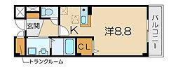 ノール・アンソレイエ[3階]の間取り