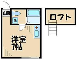 Dream Harataima 2階ワンルームの間取り