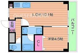京阪本線 野江駅 徒歩3分の賃貸マンション 5階1LDKの間取り