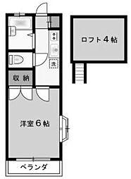 コーポヴィゴーレ[1階]の間取り