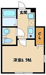 小田急小田原線 和泉多摩川駅 徒歩10分の賃貸アパート 1階1Kの間取り