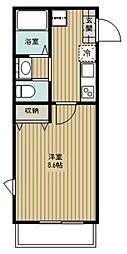 さいたま市北区日進町2丁目新築PJ 3階1Kの間取り