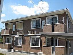 茨城県桜川市真壁町飯塚の賃貸アパートの外観