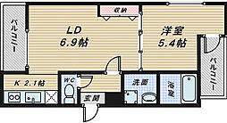 フジパレス堺東雲2番館[1階]の間取り