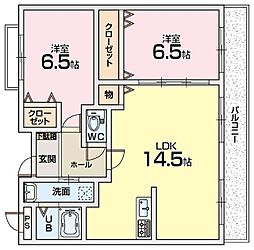 アンソレイユ藤ヶ尾[1階]の間取り