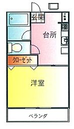 田辺ビル[3階]の間取り