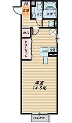 新ハイツウグイスA棟[1階]の間取り