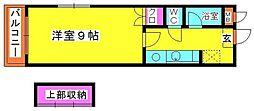 福岡県福岡市博多区東雲町4の賃貸マンションの間取り