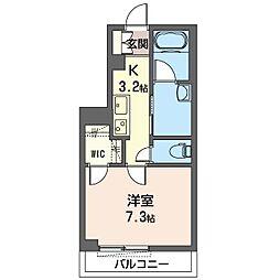 仮称 さいたま市見沼区大和田町シャーメゾン 1階1Kの間取り