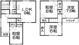 [一戸建] 大阪府枚方市茄子作3丁目 の賃貸【/】の間取り
