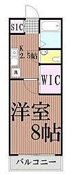 東京都品川区西大井4丁目の賃貸アパートの間取り