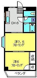 エクシード21[106号室]の間取り