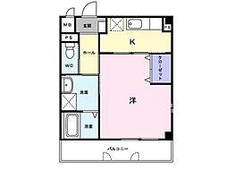 レーベン中畝 III A[2階]の間取り