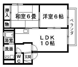 マピエスA・B棟[2階]の間取り