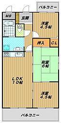 西明石マンション[4階]の間取り