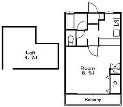 フォレスト5[1階]の間取り