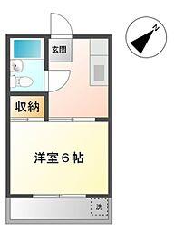愛知県豊田市泉町3丁目の賃貸アパートの間取り