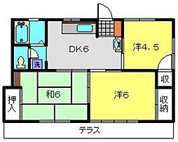 神奈川県横浜市旭区本村町の賃貸アパートの間取り
