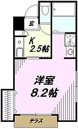 ラウンドヒル[1階]の間取り