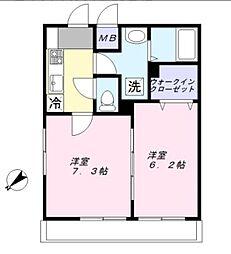 千葉県船橋市咲が丘1丁目の賃貸アパートの間取り