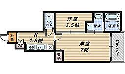 サウスレジデンスミヤビ[1階]の間取り