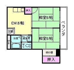 高木マンション[4階]の間取り