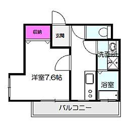Osaka Metro谷町線 千林大宮駅 徒歩7分の賃貸アパート 3階1Kの間取り