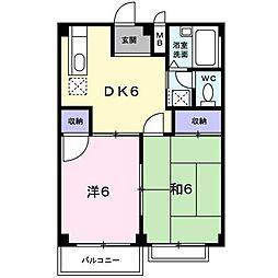サンプラザ中野 A棟[2階]の間取り