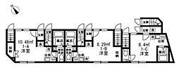 都営三田線 志村三丁目駅 徒歩10分の賃貸アパート 1階ワンルームの間取り