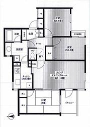 コスモ稲田堤[202号室]の間取り