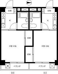 七宝レジデンス[2階]の間取り