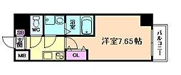 ETC福島 6階1Kの間取り