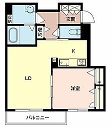 近鉄南大阪線 高鷲駅 徒歩4分の賃貸アパート 2階1LDKの間取り