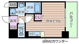 大阪府大阪市北区浮田2丁目の賃貸マンションの間取り