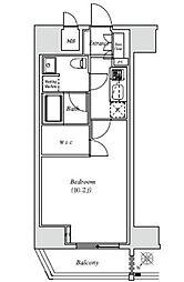 JR山手線 恵比寿駅 徒歩14分の賃貸マンション 3階1Kの間取り