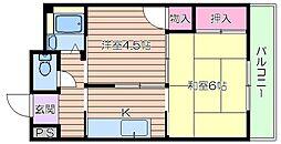 都島マンション[5階]の間取り