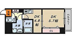宿院西TKハイツ1号館[1階]の間取り