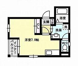 福岡県福岡市早良区西新7丁目の賃貸マンションの間取り