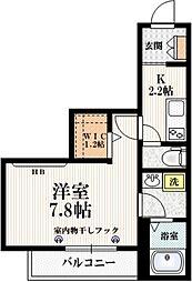 東京メトロ南北線 志茂駅 徒歩6分の賃貸マンション 3階1Kの間取り