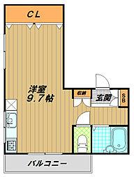 河島マンション[3階]の間取り